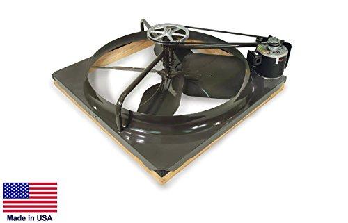 Attic Fan - Whole House Fan - 36 - Belt Drive - 7800 Cfm - 13 Hp - 115V
