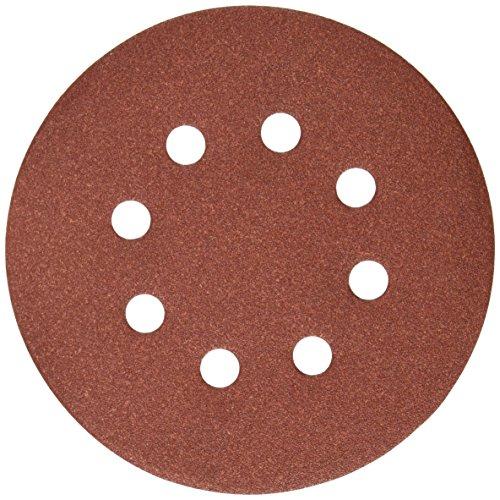 DEWALT DW4312 5-Inch 8 Hole 150 Grit Hook and Loop Random Orbit Sandpaper 25-Pack