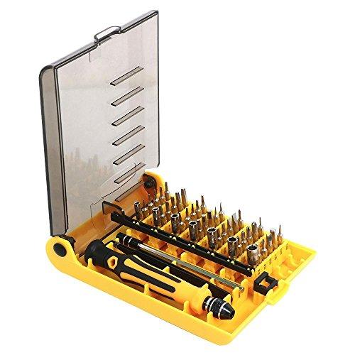 Yaheetech 45 in 1 Portable Screwdriver Tweezer Screwdriver Repair Tool Set Cell Phone Kit