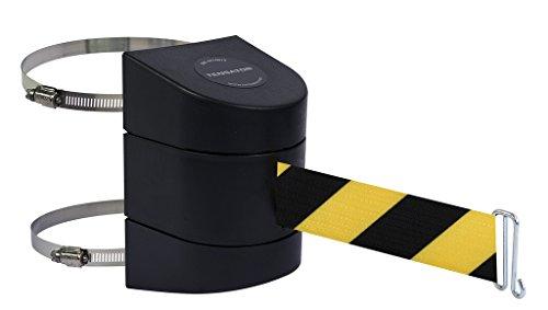 Tensabarrier 897-15-C-33-NO-D4X-A Wall Clamp Mount Black Caps No Custom BlackYellow Chevron Webbing Wire Clip Belt End 15