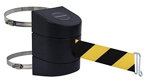 Tensabarrier 897-24-C-33-NO-D4X-A Wall Clamp Mount Black Caps No Custom BlackYellow Chevron Webbing Wire Clip Belt End 24