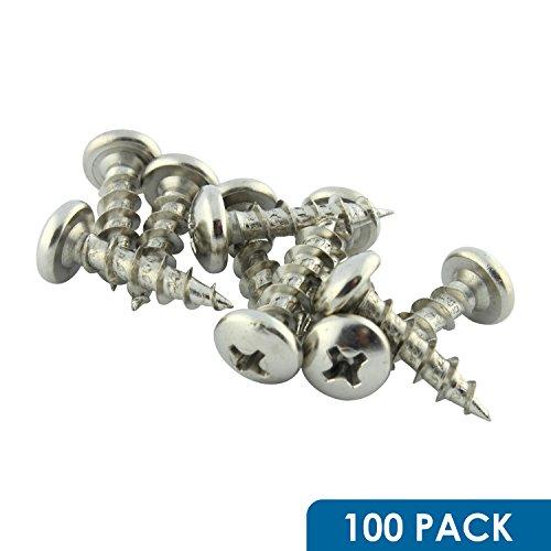 10 x 34 Coarse Deep Thread Phillips Pan Head Screws Nickel Plated 100 Pack ROKS10X34PPCNP