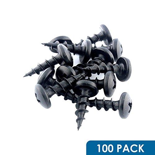 10 x 58 Deep  Coarse Thread Phillips Pan Head Screws Black Phosphate 100 Pack