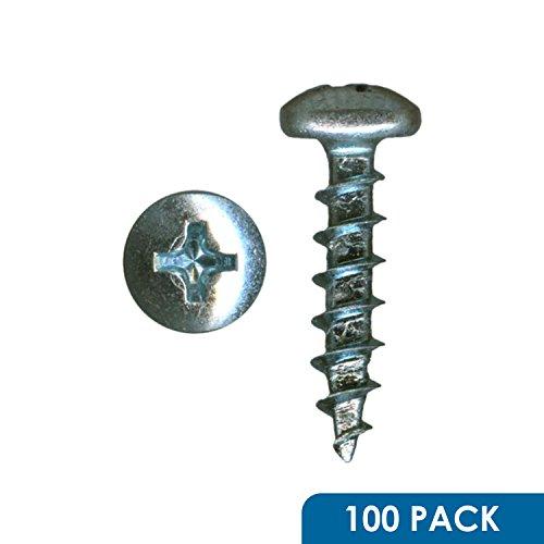 100 Pack Rok Hardware 6 x 34 Coarse Deep Thread Pan Head Screws Wood Work MDF Zinc