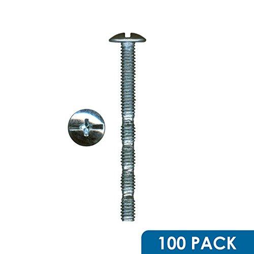 100 Pack Rok Hardware 8 x 1-34 Slotted Machine Thread Phillips Break Away Long Truss Head Screws