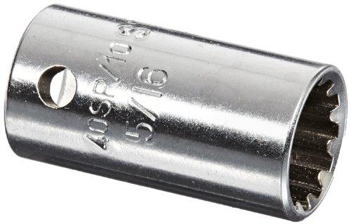 Stahlwille 40ASP-10 Steel Spline Drive Socket 14 Drive 12 Points 516 Diameter 222mm Length 116mm Width Spline Size 10