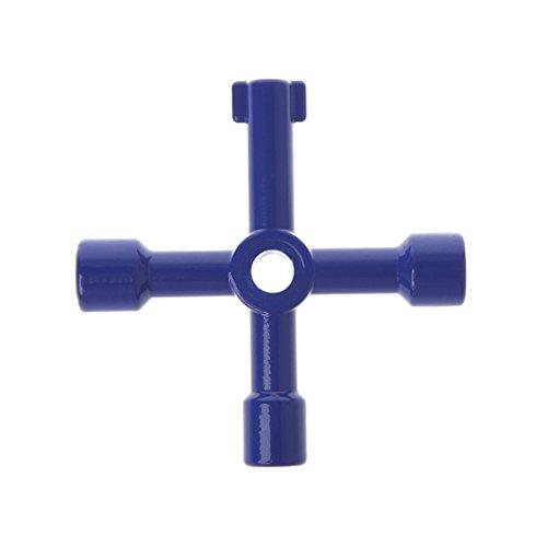 YUNAWU 1Pcs 4 In 1 Cross Switch Key Wrench Universal Square Triangle Screwdriver