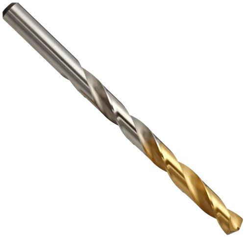 YG-1 High Speed Steel Gold-P Jobber Drill Bit TiN Finish Straight Shank Slow Spiral 135 Degree 104mm Diameter x 133mm Length Pack of 1