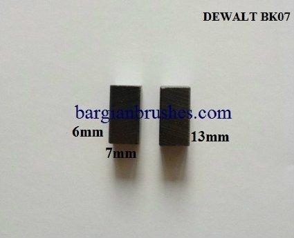 DEWALT CARBON BRUSHES BK07 DRILLS ROUTERS SAWS 6X7X13 A8