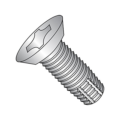 18-8 Stainless Steel Thread Cutting Screw Plain Finish 82 Degree Flat Undercut Head Phillips Drive Type F 8-32 Thread Size 34 Length Pack of 25