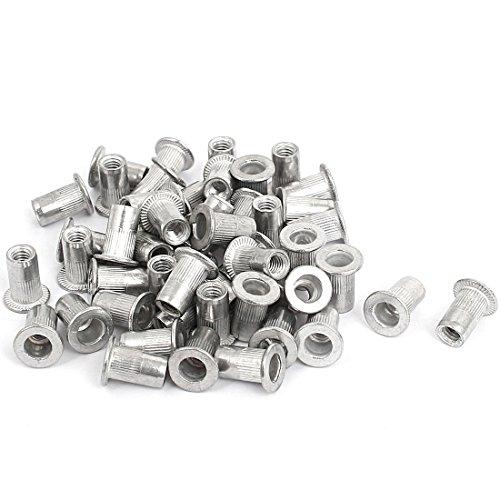uxcell M4 Thread Aluminum Rivet Nut Insert Nutsert 50pcs