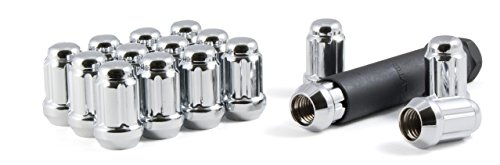 Gorilla Automotive 21122HT Small Diameter Acorn Chrome 4 Lug Kit 12mm x 125 Thread Size  - Pack of 16