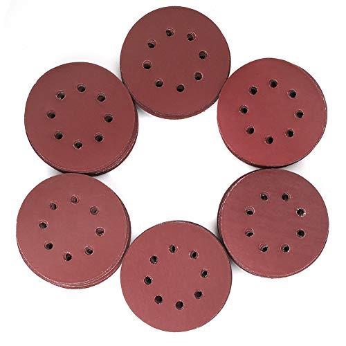 120PCS 5 Inch 8 Holes Sanding Discs - 1000 1200 1500 2000 2500 3000 Grit Assorted Sandpaper by LotFancy Hook and Loop Random Orbital Sander Round Sand Paper