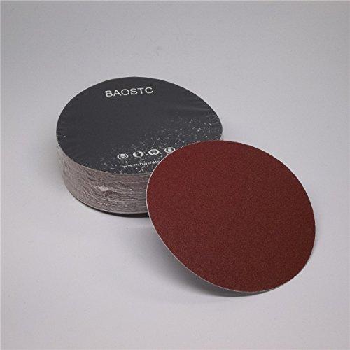 BAOSTC 5 no holes Assorted 120-180-240 PSA sanding disc aluminum oxide 50PACK