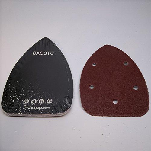 BAOSTC 3-345-12 P240 Palm velcro sanding disc for mouse sander 10PACK