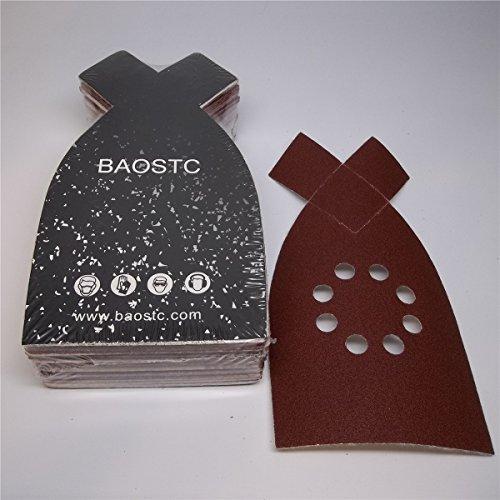 BAOSTC 4-148 P80 velcro sanding disc for BLACK&DECKER mouse sander 50PACK
