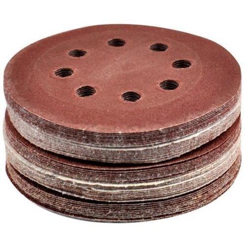 FreshGadgetz 50 x 125MM Orbit Sanding Sand Paper Velcro Discs 406080100120g Grit Sander