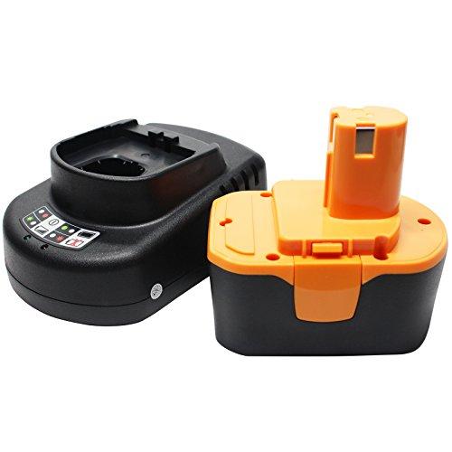 Ryobi R10520 Battery  Universal Charger for Ryobi Replacement - For Ryobi 144V Power Tool Batteries and Chargers 1300mAh NICD