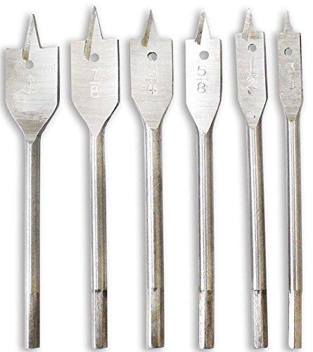 6 Piece Set Of Wood Boring Drill Bits