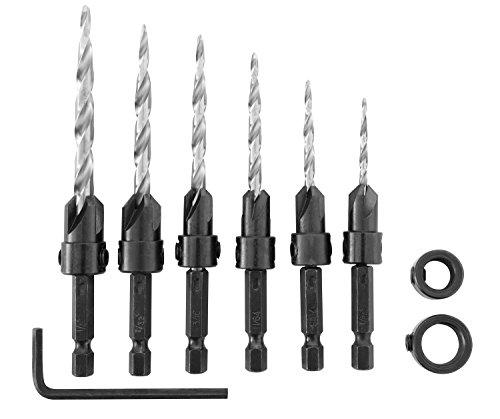Irwin Tools 1882792  SPEEDBOR Countersink Wood Drill Bit 8-Piece