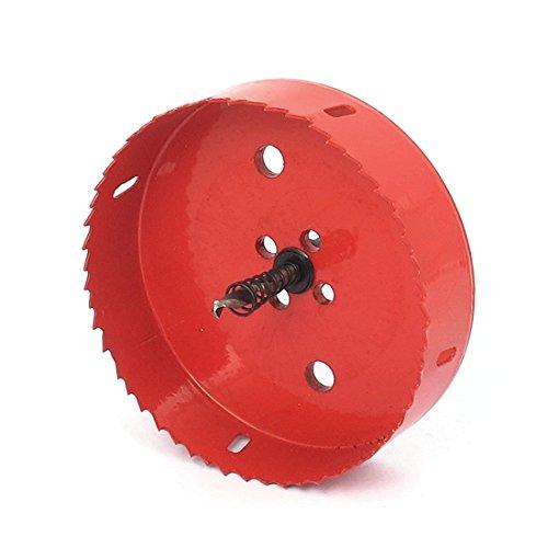 Drill Bit - TOOGOOR 6mm Drill Bit 130mm Cutting Diameter Hole Saw Red for Drilling Wood