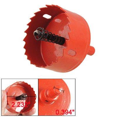 Wood Iron Cutting 6mm Drill Bit 60mm Diameter Bimetal Hole Saw Red