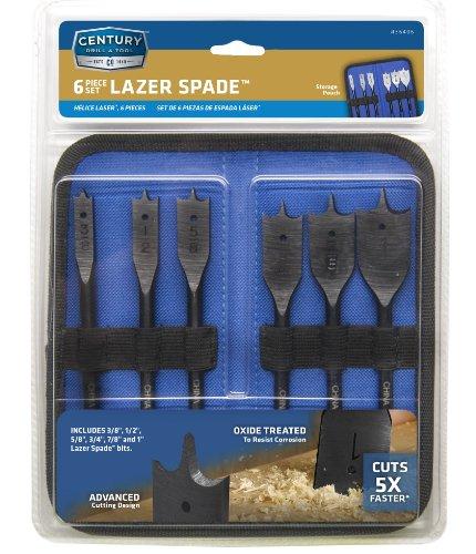 Century Drill and Tool 36406 Lazer Spade Bit Set 6 Piece