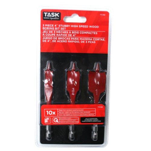 Task Tools T11781 3-Piece Stubby Signature Spade Bit Set
