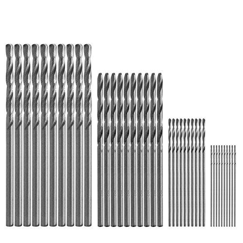 MEXUD-Hot 40Pcs Mini Drill HSS Bit 05mm-20mm Straight Shank PCB Twist Drill Bits Set