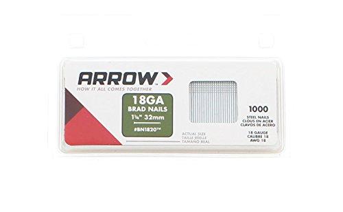Arrow Fastener BN1820CS 1-14-Inch Brad Nails 18-Gauge