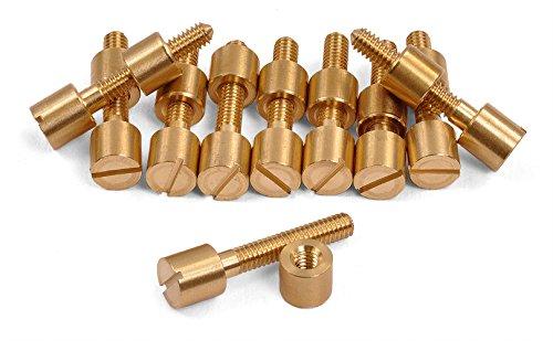 10 Pack of Brass Screw Fasteners 516 Diameter Head -- 600B