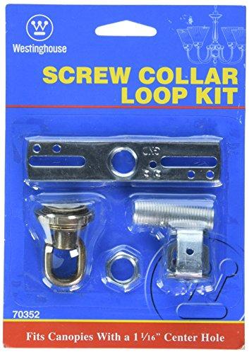 Wellington 7035200 Westinghouse Screw Collar Loop Kit Antique Brass
