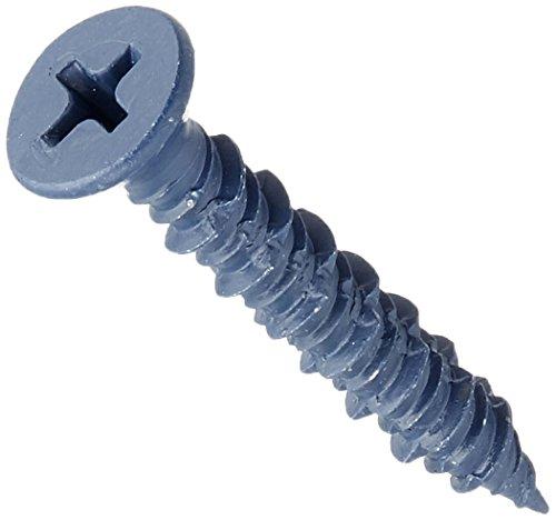 Hard-to-Find Fastener 014973161903 Phillips Flat Concrete Screws 316 x 1-14-Inch