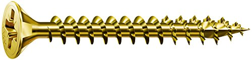 SPAX Screws Size 35mm x 20mm Flat Countersunk Pozi Zinc Yellow Passivated - 1 Box Pack 200 Pieces
