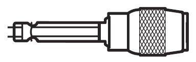 Lutz 23048 14 Magnetic Bit Holder with Lock - 25 per Jar