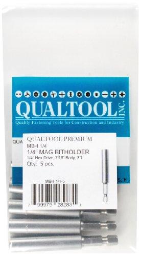 Qualtool Premium MBH14-5 Magnetic 14-Inch Hex Drive Bit Holder 5-Pack