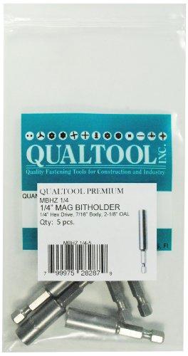 Qualtool Premium MBHZ14-5 Magnetic 14-Inch Hex Drive Bit Holder 5-Pack