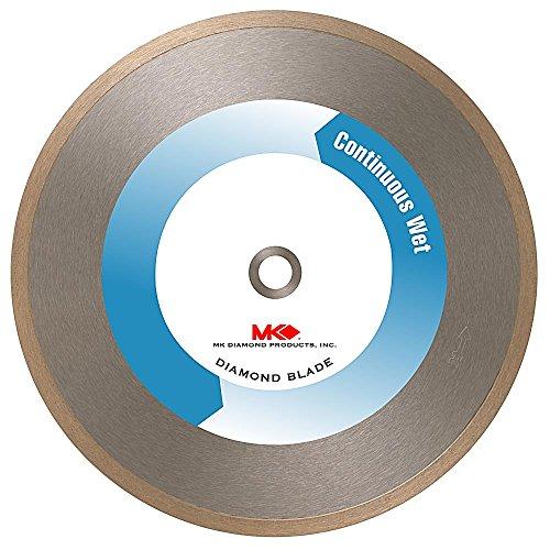 MK Diamond 155949 MK-215GL 8-Inch Wet Cutting Continuous Rim Supreme Metal Bond Blade for Glass