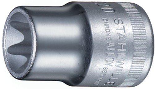 Stahlwille 50TX-E10 Steel Female Torx Socket 12 Drive 94mm Diameter 38mm Length 22mm Width