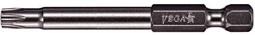 VEGA T10 TORX Security Bits Professional Grade ¼ Inch Hex Shank TORX T-10 S2 Steel 2-34 Security Bits 170TT10A