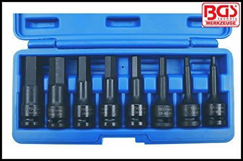 BGS Werkzeug - 8 Pcs Impact Bit Socket Set - Internal Hex 5-19 mm 12 Drive - Pro Range RRP £6943 BGS-5481 by BGS - Werkzeug