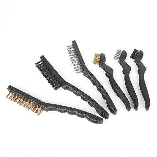 FAST F00270 6-piece Wire Brush Set Steel Brush Brass Brush Nylon Brush