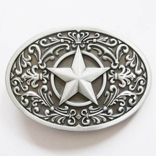 Brand New Western Star Scroll Cowboy Belt Buckle