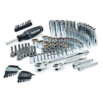 Husky 100-Piece 14 38 Drive Mechanics Tool Set