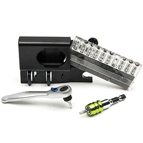 Tonsiki 14 Ratchet Socket Spanner Wrench 14 Hex Shank Bit Holder CRV Slotted Torx Phillips Hexagon