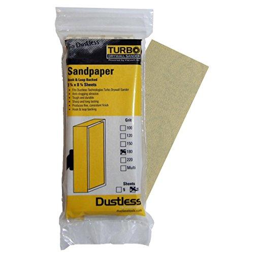 Dustless Technologies 54202 180 Grit Sandpaper 25-Pack