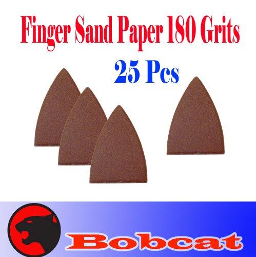 Pack 25 Sandpaper 180 Grits Sand Paper Finger Detail wloop backing for Fein Multimaster Bosch Multi-x Craftsman Nextec Dremel Multi-max Ridgid Dremel Chicago