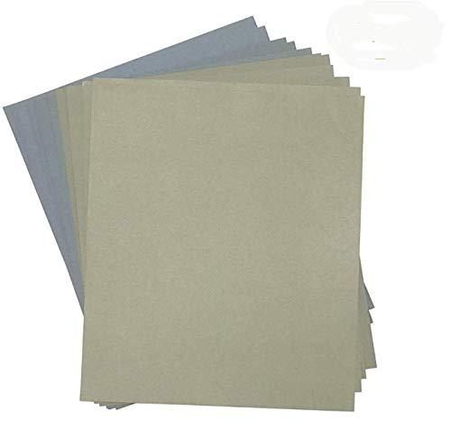 SHYN ABASIVES Grit 1500 to 7000 WetDry Silicon Carbide Sandpaper Sheets Precision Polishing Sanding -2pcs of Each 1500 2000 2500 3000 5000 7000 Grit Wet Dry Sandpaper