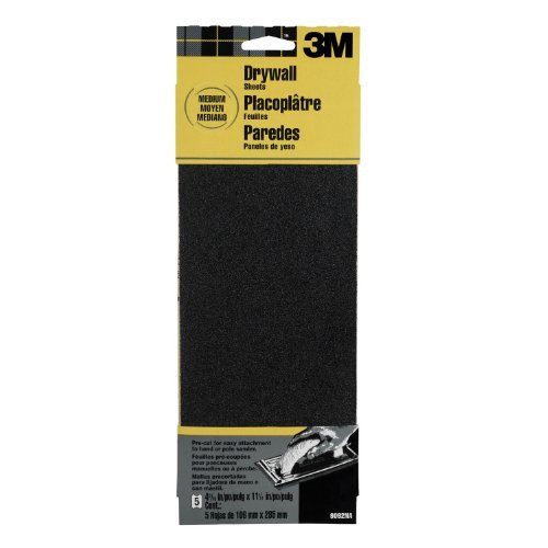 3M 9092DCNA Drywall Sanding Sheets 41875 in x 11 14 in 5-Sheet Medium-Grit Model 9092NA Tools Hardware store