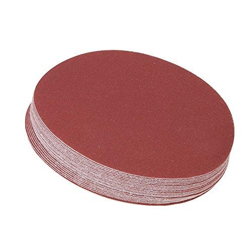 CNBTR 6 150mm 240 Grit Brick Red Sanding Discs Hook&Loop Sandpaper Pack of 20